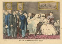 Death of President Lincoln, 1865. People in room: 12 (Tad was never actually there).