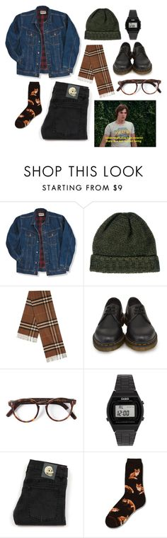 """""""dostum tolga"""" by meloki ❤ liked on Polyvore featuring Wrangler, SELECTED, Burberry, Dr. Martens, Cutler and Gross, Casio, Cheap Monday, men's fashion and menswear"""