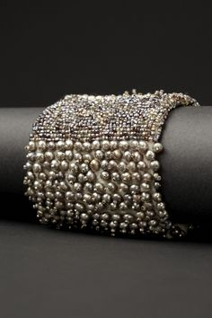 "Bling! Couture Cuff from the ""Armilla"" collection by LA-based jewelry designer Andrea Gutierrez. via the designer's site"