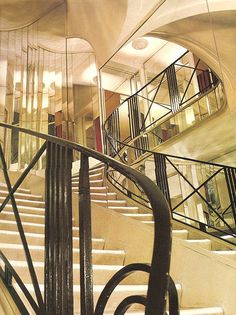 Coco Chanel's Store in Paris done in the style of the day, Art Deco.