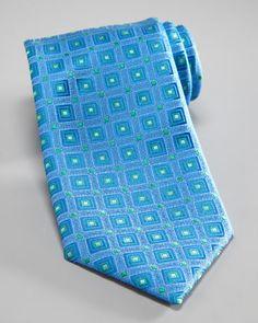 Square-Print Silk Tie by Charvet at Bergdorf Goodman.