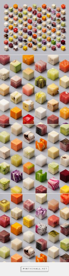 A Variety of Unprocessed Foods Cut into Uncannily Precise 2.5cm Cubes by Lernert & Sander | Colossal... - a grouped images picture - Pin Them All