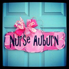 Nurse's Door Hanging door hanger wall hanging by PaiDanProductions, $30.00
