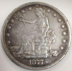 1877 s Trade Silver Dollar Super Nice Original Coin 27 grams No Reserve | eBay