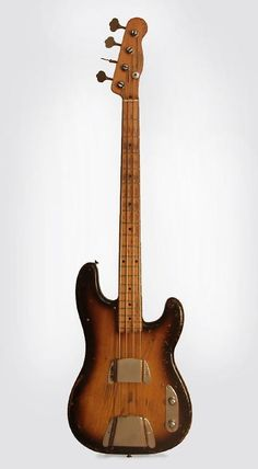 Fender Precision Bass Solid Body Electric Bass Guitar (1955), ser. #7217, NO CASE case. Yamaha Bass Guitar, Fender Bass Guitar, Acoustic Bass Guitar, Fender Guitars, Leo Fender, Easy Guitar, Guitar Tips, Guitar Songs, Cool Guitar