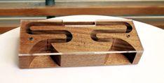 AudioBLOCK madera amplificador acústico para el iPhone - caoba