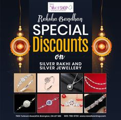 #RakshaBandhan Special Discounts on Silver Rakhi and Silver Jewellery.  Visit New Silver Shop & Jewellers today located at 7955 Torbram Road, #24, Brampton, ON L6T 5B9, Canada  Phone: 905-799-6700, 647-862-7600, 647-297-4041  #Silver #NewSilverShop #SilverShop  #Ontario #Canada #SilverJewellery #Jewelry #Jewellery #SpecialSilverRakhi #SilverRakhi #Rakhi #Special    #SilverRakhiBrampton #HugeDiscount #SpecialDiscounts #RakshaBandhanSpecialDiscounts #RakshaBandhanSpecial…