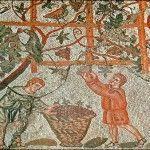 Harvest Roman mosaic
