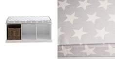 A smart grey cushion with a cotton, machine washable cover. Team it up with our Abbeville toy storage bench. Find out more at Great Little Trading Co. Cube Storage Unit, Toy Storage, Storage Ideas, Great Little Trading, Bench Cushions, Star Designs, Mattress, Shelves, Interior Design