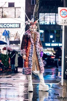 Avant-Garde Harajuku Street Style & Makeup – Tokyo Fashion News - keeledturn. Japanese Street Fashion, Tokyo Fashion, Fashion News, Girl Fashion, Fashion Outfits, Tokyo Street Style, Casual Street Style, Harajuku Japan, Leopard Print Coat