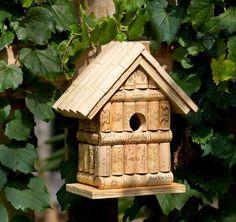 Find great deals for Wine Cork Birdhouse Barrel Style Roof Each Unique*. Shop wi… Find great deals for Wine Cork … Wine Craft, Wine Cork Crafts, Wine Bottle Crafts, Wine Cork Projects, Craft Projects, Project Ideas, Wine Cork Birdhouse, Wine Cork Art, Wine Bottle Corks