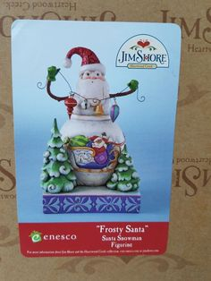 Jim Shore Enesco FROSTY SANTA Snowman Figurine | Collectibles, Decorative Collectibles, Decorative Collectible Brands | eBay! #collectiblefigurines