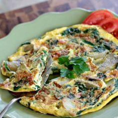 Perfect for a hectic weeknight dinner! Spanish Omelette with Veggies