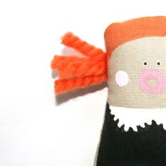 Handmade Toy Doll - Hand Painted Doll, Soft Toy Doll, Fabric Doll, Soft Sculpture, Art Doll, Poosac. via Etsy.