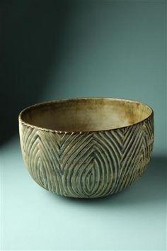 Bowl, designed by Axel Salto for Royal Copenhagen Ceramic Clay, Ceramic Bowls, Ceramic Pottery, Pottery Art, Pottery Ideas, Terracotta, Royal Copenhagen, Copenhagen Denmark, Clay Bowl