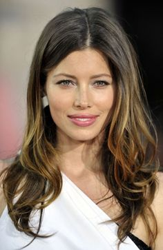 Jessica biel ombre hair. I don't usually like ombre, but hers looks more like highlights, which I think is pretty.