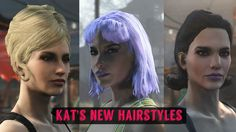 Kat's New Hairstyles at Fallout 4 Nexus - Mods and community