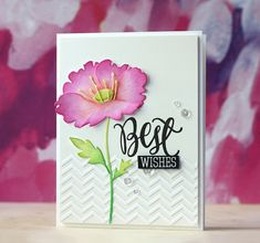 Love this card created by Laura Bassen using the Simon Says Stamp Tattered Poppy wafer die