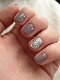 Grey and silver nails - fmag.com