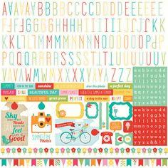 Echo Park - Summer Bliss Collection - 12 x 12 Cardstock Stickers - Alphabet at Scrapbook.com $2.24