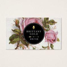 ~ Living a Beautiful Life ~ Author, Writer Business Card - Rose Feminine Fashion Business Cards, Beauty Business Cards, Designers Gráficos, Branding Design, Logo Design, Bussiness Card, Calling Cards, Flyer, Grafik Design