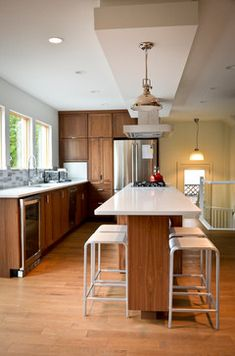 Island With Seating In Narrow Kitchen Kitchen Project 1 Pinterest Narrow Kitchen Island Pot Lights And Islands