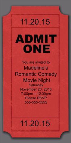 Movie Night Party Invitation - Birthday Invitations from CardsDirect