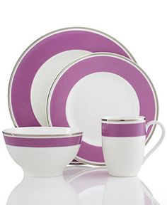 Villeroy & Boch Dinnerware, Anmut Colour Pink Rose Collection - Dinnerware - Dining & Entertaining - Macy's