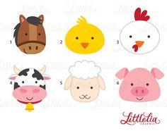 granja animales imágenes prediseñadas clipart por LittleLiaGraphic