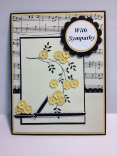 Thoughts & Prayers Sympathy Card Stampin' Up! Rubber Stamping Handmade Cards