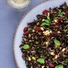 Wild Rice Salad with Cranberries and Mint- Native American recipe