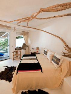 Room in the Su Gologone Hotel in Sardinia, Italy.
