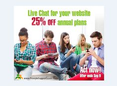 Your customers are ready to buy right now. Are you ready to sell? Equip yourself with the most efficient live chat customer service and sales tool. 25% OFF to all new subscriptions and upgrades! Hurry up to catch your discount!