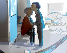 Random, adorable Mystrade. Perfect, b/c it slots into canon. Headcanon: Lestrade figures out John took the shot, but Mycroft swooped in and protected the information, leading to an intimate moment.