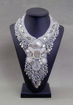 Bead Embroidered Collar Necklace by Betty Stephan Beadwork