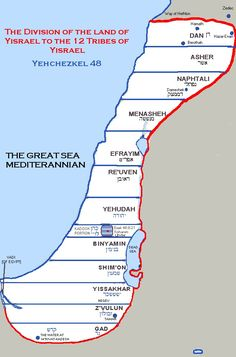 The divisions of the tribes of Israel