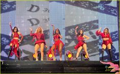 Fifth Harmony Slays The Show At San Jose's Triple Ho Holiday Concert: Photo #901350. Fifth Harmony sizzle in red on stage while performing at the 99.7 NOW! Triple Ho Show held at SAP Center on Wednesday night (December 2) in San Jose, Calif.    The…