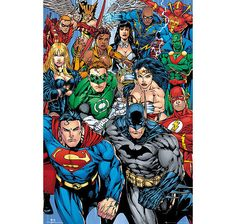 DC Comics Superheroes Poster Collage. Hier bei www.closeup.de