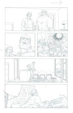 FRANK QUITELY - JUPITER´S LEGACY #3 PAGE 4 Comic Art