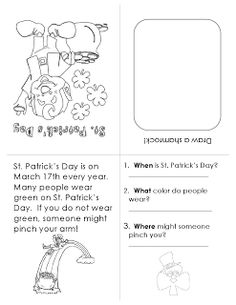 Ms. Lane's SLP Materials: Story Booklet-St. Patrick's Day. Pinned by SOS Inc. Resources. Follow all our boards at pinterest.com/sostherapy for therapy resources.