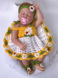 Baby dress Crochet headband Crochet shoes Crochet cardigan