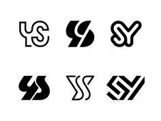 YS / Others by Kakha Kakhadzen on Dribbble Wedding Logo Design, Wedding Logos, Typography, Lettering, Logo Maker, Monogram Logo, Letter Logo, Logo Inspiration, Logo Templates
