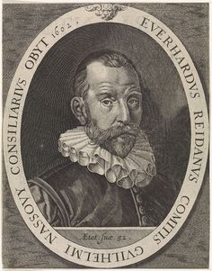 Jan Harmensz. Muller   Portret van Everard van Reyd, Jan Harmensz. Muller, Anonymous, 1633   Portret van Everard van Reyd, raadgever van Willem van Oranje.