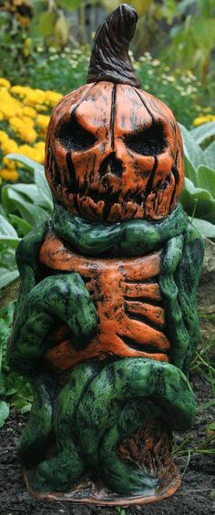 Behold The Great Pumpkin Corpse!  Risen from his pumpkin patch grave just in time for Halloween  This soul swallowing gourd would be the perfect