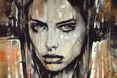 """Non Nude OIL & ACRYLIC CANVAS Painting ORIGINAL Portrait By L Dolan 16x24"""" COA"""