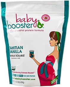 Prenatal Vitamin Supplement Shake - Baby Booster Tahitian Vanilla - bag - OBGYN Approved - All Natural - Tastes Great - Vegetarian DHA - High Protein - Folic Acid - - Great for Morning Sickness Pregnancy Vitamins, Best Prenatal Vitamins, Prenatal Massage, Get Pregnant Fast, Morning Sickness, Folic Acid, Baby Care, Health And Beauty, Health Tips