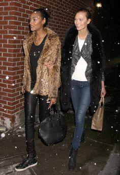 #JourdanDunn et #KarlieKloss au défilé #DianeVonFurstenberg #NYFW
