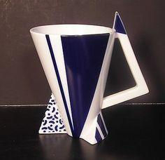 Fujimori Kato Kogei Japanese Delta Studio 99 Art Pottery Coffee Tea Mug Vtg 80's