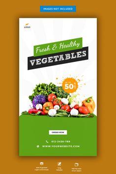 Fresh grocery sale banner | Premium Psd #Freepik #psd #banner #food #sale #shopping Sale Banner, Web Banner, Social Media Banner, Social Media Design, Vegetable Shop, Brochure Design, Branding Design, Supermarket Logo, Healthy Vegetables
