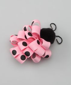 Loving this Pink Ladybug Loop Clip on #zulily! #zulilyfinds